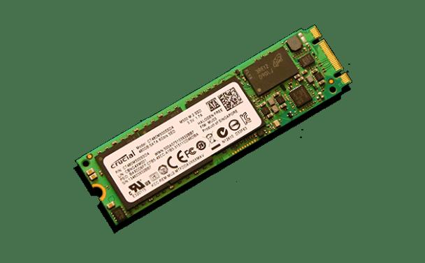 Crucial M500 M.2 NGFF SSD Angled 3x5