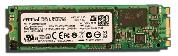 Crucial M500 M.2 NGFF SSD Front With Branding1