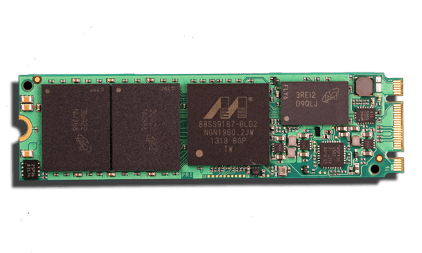 Crucial M500 M.2 NGFF SSD Front