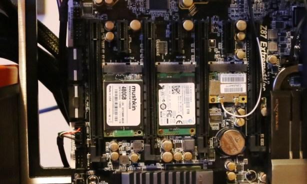 ASRock Z87 Extreme 11 ac motherboard Dual mSATA
