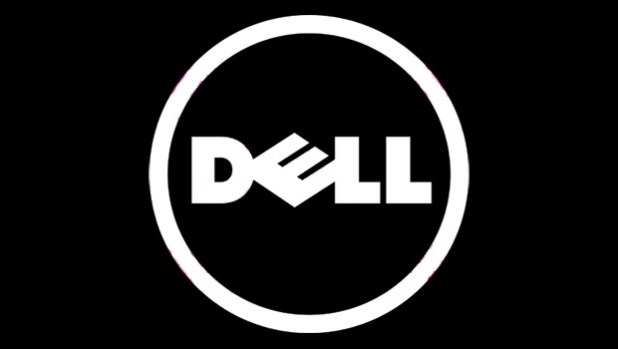 Dell logo dark background