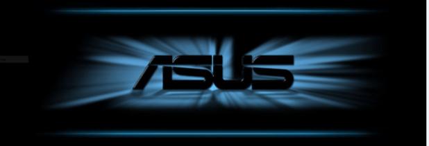 asus logo dark background