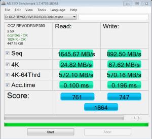 OCZ RevoDrive 350 PCIe SSD AS SSD Bench