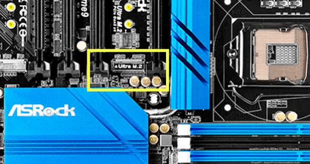 Motherboard with M.2 slot