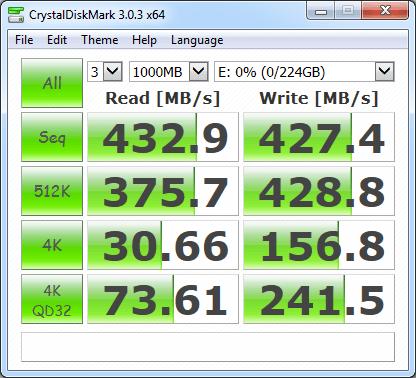 OCZ ARC 100 240GB Crystal Disk Mark