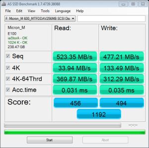 M600 M.2 256GB AS SSD