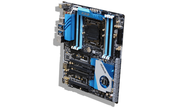ASRock X99 Extreme11 Motherboard Angled