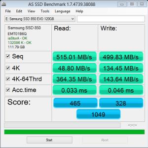 Samsung 850 EVO 120GB AS SSD