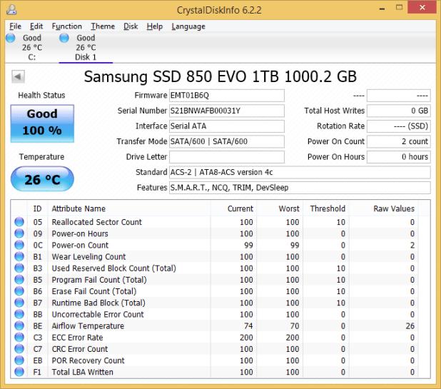 Samsung 850 EVO 1TB CDI