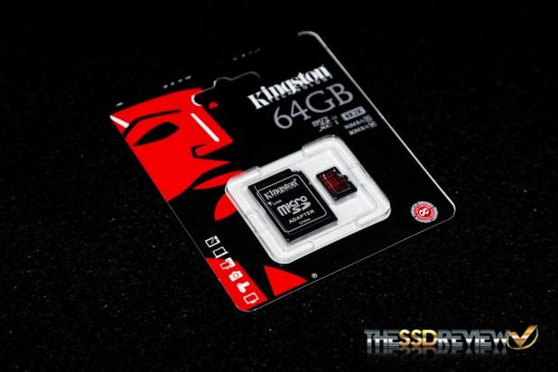 Kingston microSDXC Card Angle