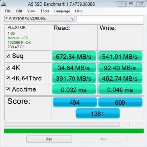 M6e Black Edition 256GB AS SSD