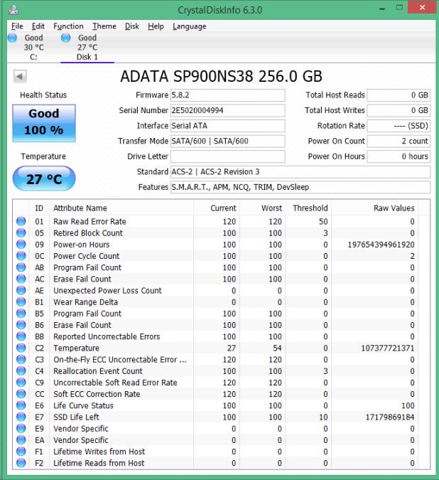 ADATA SP900NS38 256GB cdi