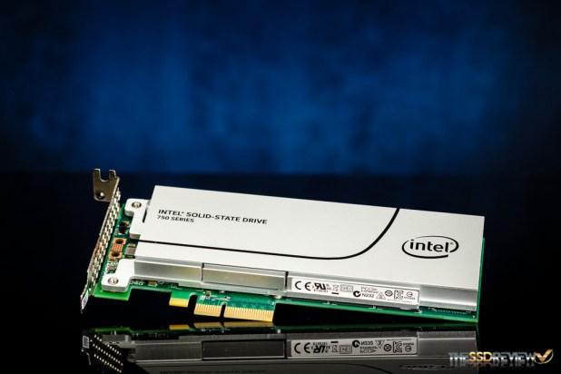 Intel 750 1.2TB Angled