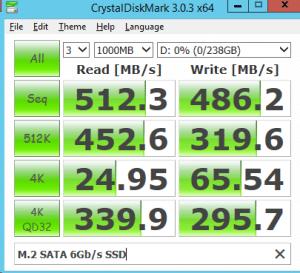 M.2 SATA 6Gbs SSD