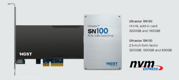 HGST SN100 botyh form factors