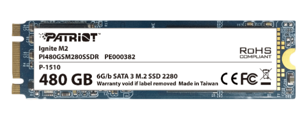 Patriot Ignite M.2 480GB SSD