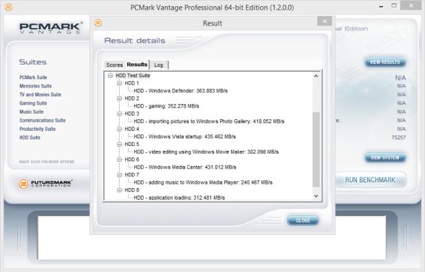 OCZ Trion 100 960GB PCMark Vantage