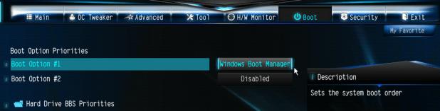 Boot Options