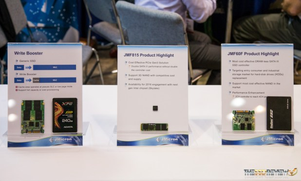 JMicron FMS 2015 New Controllers and Write Booster