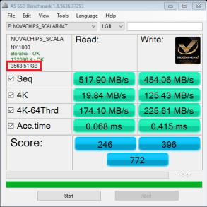 NovaChips Scalar Series 4TB NS370 SATA 3 SSD AS SSD WM