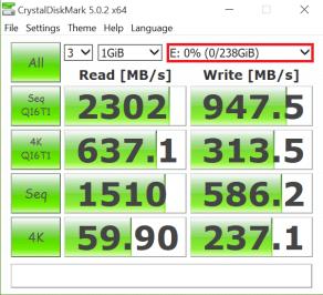 Samsung SSD 950 Pro 256GB M2 Crystal Diskmark