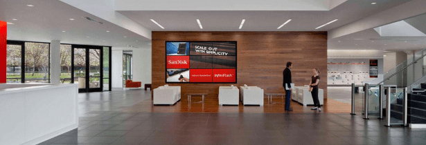 SanDisk offices lobby