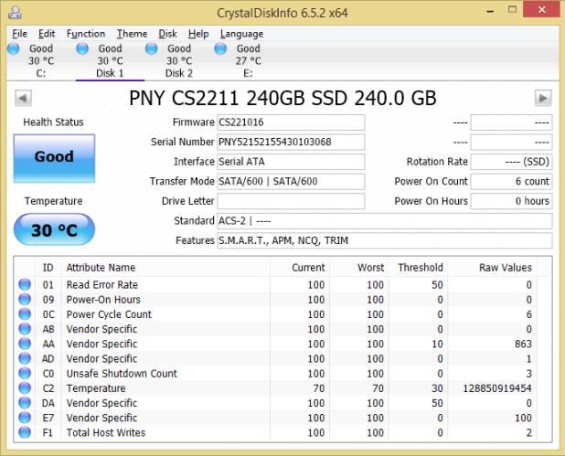 PNY XLR8 CS2211 240GB CDI
