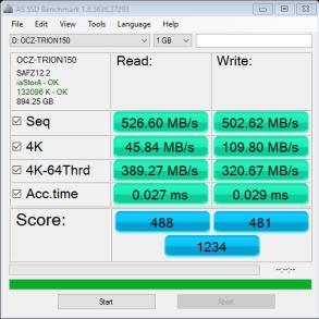 OCZ Trion 150 960GB SSD AS SSD