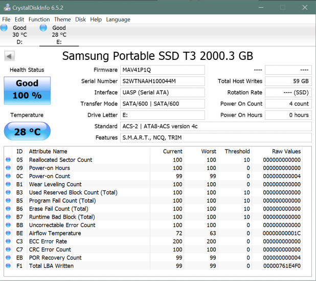 Samsung T3 2TB Portable SSD CDI