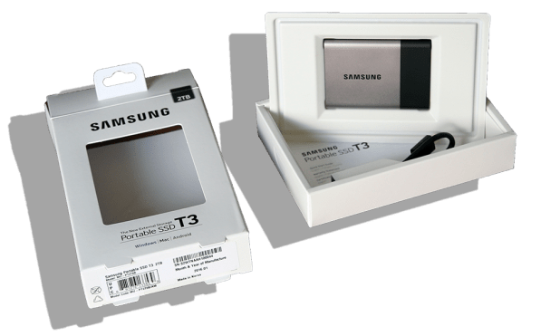 Samsung T3 2TB Portable SSD Opened