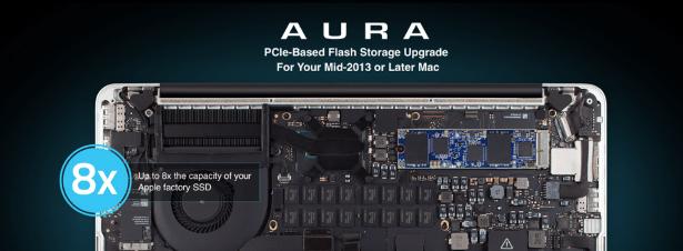 OWC Aura PCIe SSD banner