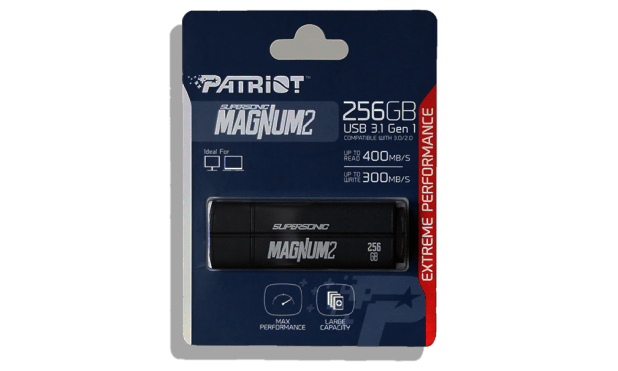Patriot Supersonic Magnum2 USB 3.1 256GB Flash Drive Package Front