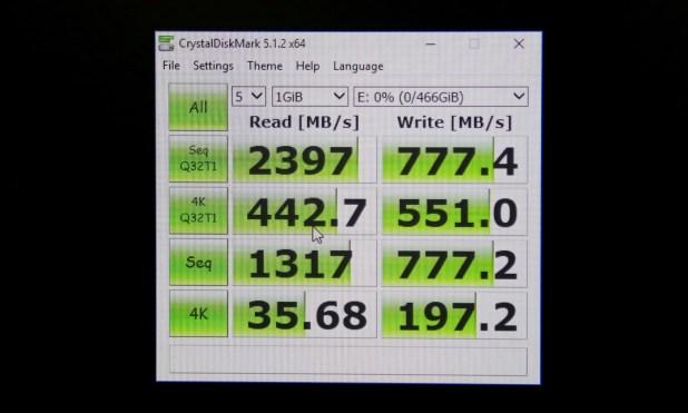 Crucial Ballistix NVMe SSD Initial CDM Speeds