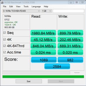 OCZ RD400 1TB AS SSD