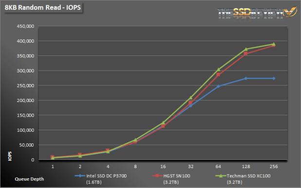 Techman SSD XC100 3.2TB 8K Read IOPS