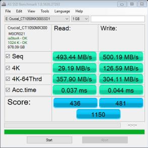 1TB Crucial MX300 as ssd