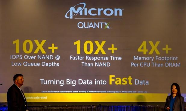 Micron QuantX vs NAND Comparison