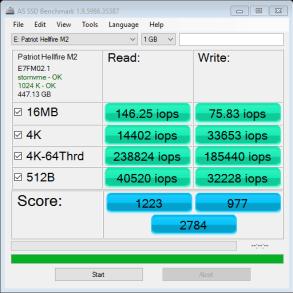 480GB Patriot Hellfire AS SSD IOPS