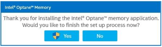 Intel Optane Activation Menu