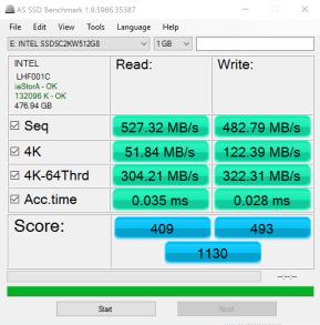 Intel SSD5 545s 512GB SATA III SSD AS SSD