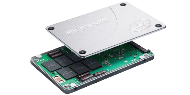 Intel SSD exploded view udot2 angled