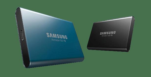 Samsung T5 portable SSD banner