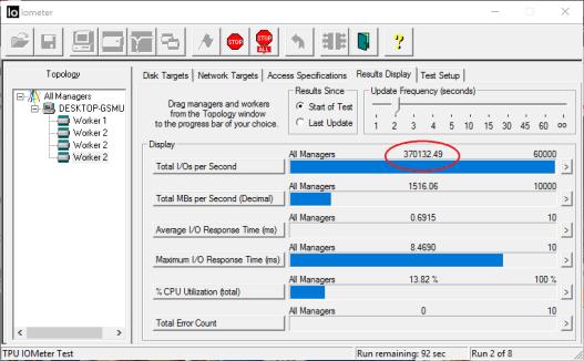 Highpoint SSD7101 960 Pro OS RAID 0 IOmeter Write IOPS