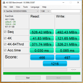 1TB SanDisk Ultra 3D AS SSD