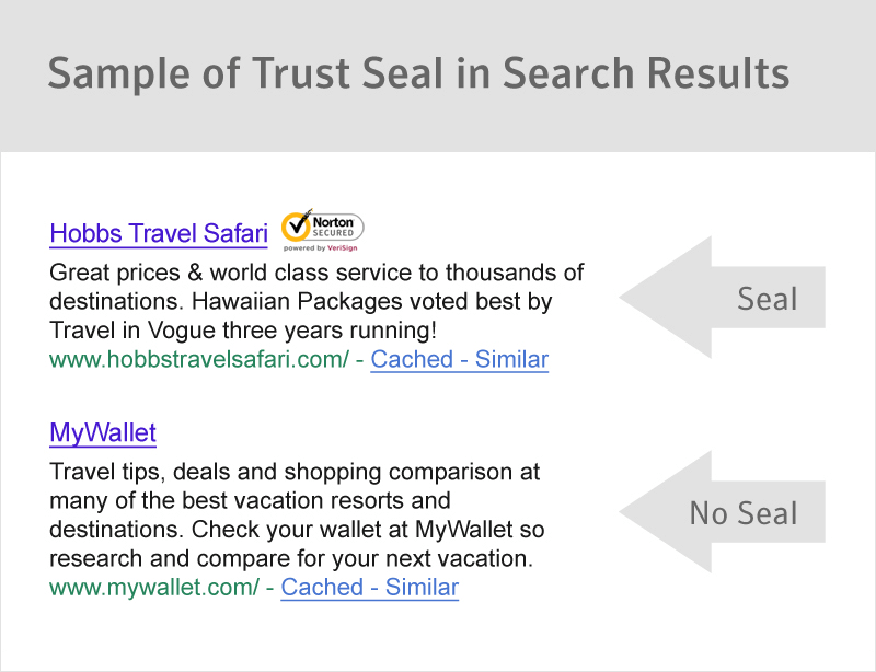 TrustSeal In Search