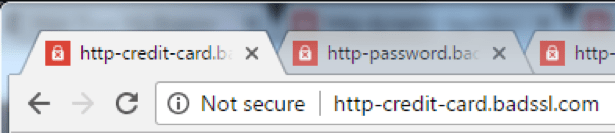 Not Secure, HTTP Warning