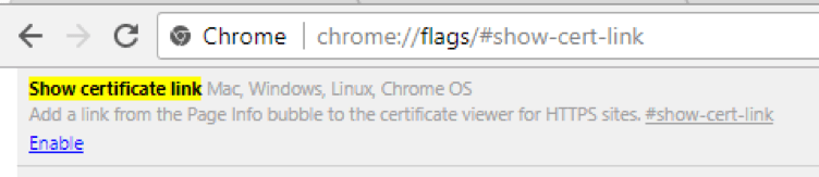 Chrome 60 Flag Certificate Viewer