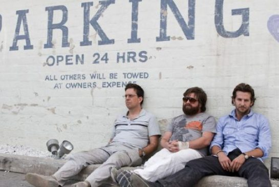 Ed Helms, left, Zach Galifianakis and Bradley Cooper  in a scene from The Hangover. Lost productivity due to alcohol cost U.S. employers $77 billion in 2010, according to the Center for Disease Control.