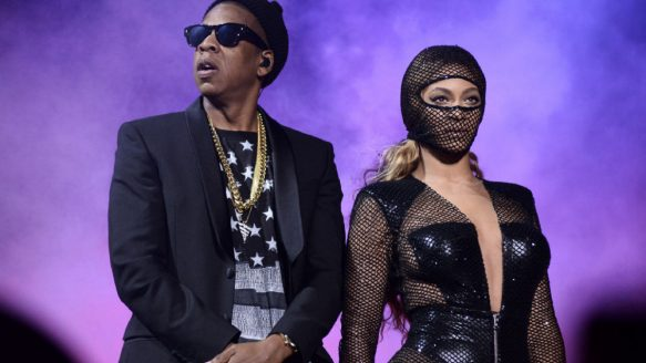 Jay Z and Beyonce perform on their On The Run Tour in Foxborough, Mass. They bring the tour to Toronto Wednesday night.