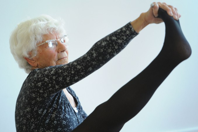 Ida Herbert, a 95-year-old yoga instructor, wants into the